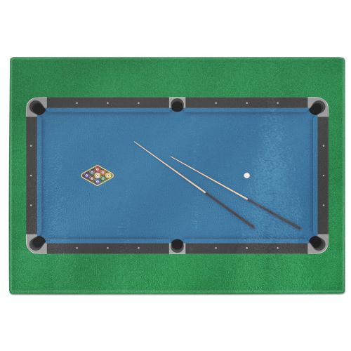 9 Ball Pool Table Billiards Tempered Glass Chopping Board
